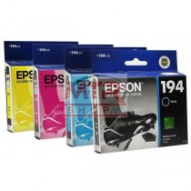 T194KIT CARTUCHOS ORIGINAIS KIT 4 CORES EPSON XP204 XP104 XP214